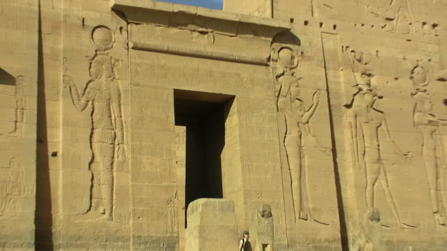 cu, zo, ms, temple of edfu, egypt - relief carving stock videos & royalty-free footage