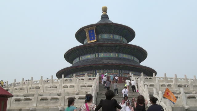 temple of heaven, beijing, china - temple of heaven stock videos & royalty-free footage