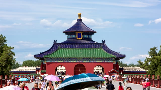 vidéos et rushes de ms temple of heaven / beijing, china - temple du ciel
