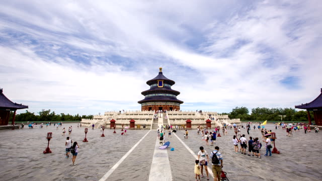 ws temple of heaven / beijing, china - temple of heaven stock videos & royalty-free footage