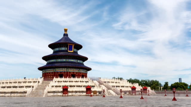 vidéos et rushes de t/l ws temple of heaven / beijing, china - temple du ciel