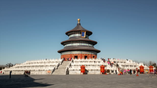 t/l ws zo temple of heaven / beijing, china - temple of heaven stock videos & royalty-free footage
