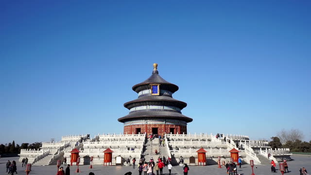 ms temple of heaven / beijing, china - temple of heaven stock videos & royalty-free footage