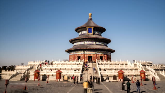 t/l ws pan temple of heaven / beijing, china - temple of heaven stock videos & royalty-free footage