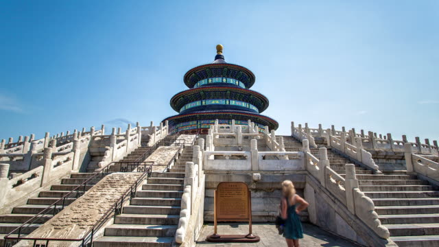 temple of heaven circle timelapse - beijing stock videos & royalty-free footage