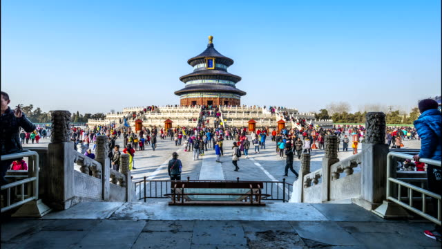 Temple of Heaven Menschenmenge timelapse