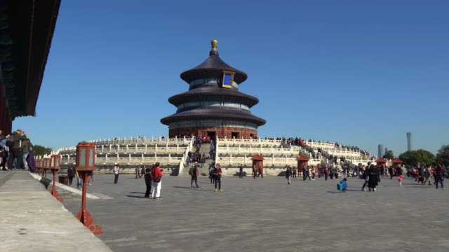 temple of heaven in beijing, china - temple of heaven stock videos & royalty-free footage