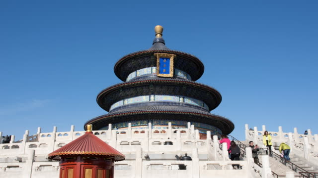 temple of heaven in beijing - temple of heaven stock videos & royalty-free footage