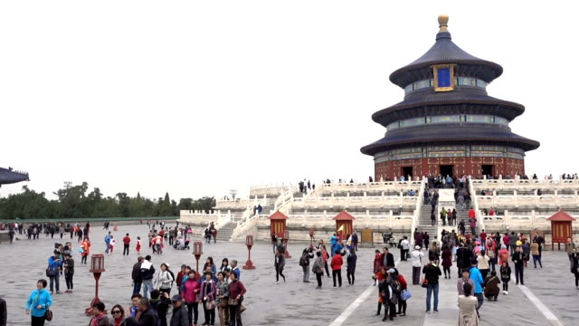 temple of heaven time lapse in beijing - temple building stock videos & royalty-free footage