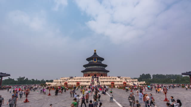 t/l ws temple of heavens - beijing, china - temple of heaven stock videos & royalty-free footage