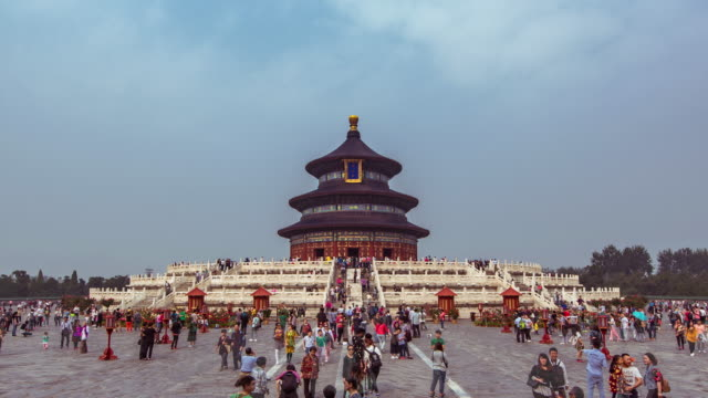 t/l ms temple of heavens / beijing, china - temple of heaven stock videos & royalty-free footage