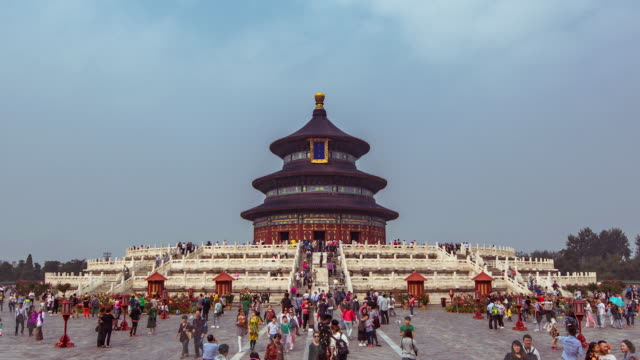 t/l la temple of heavens / beijing, china - temple of heaven stock videos & royalty-free footage