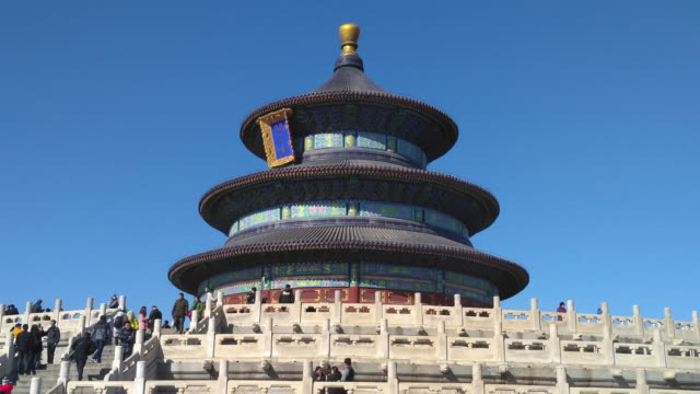 vidéos et rushes de temple of heaven's moving time lapse, beijing - temple du ciel