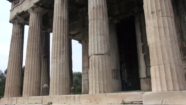 temple of hephaestus in athens - old ruin stock videos & royalty-free footage