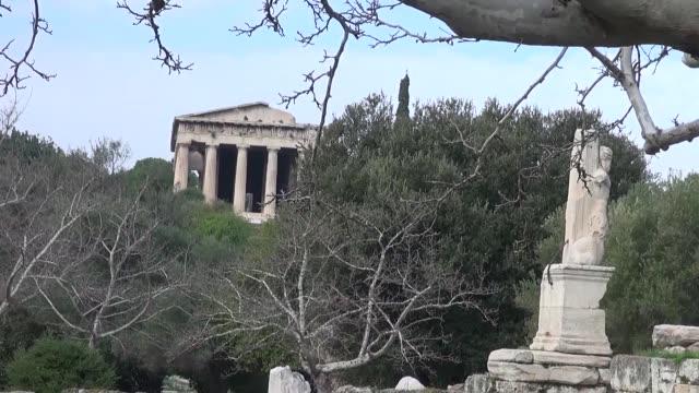 temple of hephaestus in athens - 小枝点の映像素材/bロール