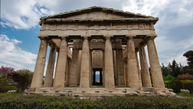 temple of hephaestus - athens greece stock videos & royalty-free footage