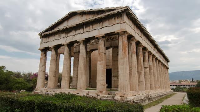temple of hephaestus - athens greece stock videos & royalty-free footage