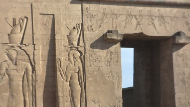 cu, zo, ms, temple of isis, philae island, egypt - isis stock videos and b-roll footage
