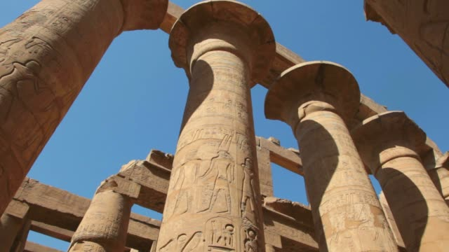 temple of karnak in luxor,egypt. - column stock videos & royalty-free footage