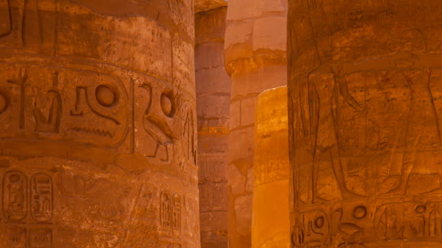 temple of karnak - column stock videos & royalty-free footage
