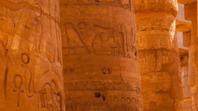 temple of karnak - geroglifico video stock e b–roll