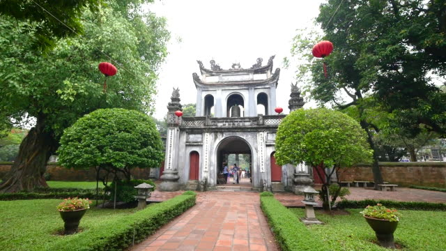 temple of literature in hanoi vietnam. - literature stock videos and b-roll footage