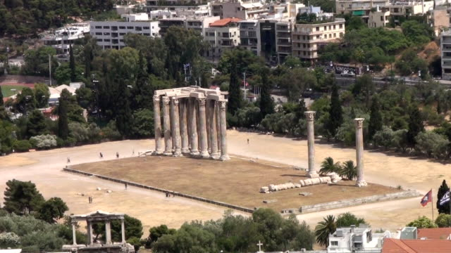 temple of olympian zeus (athens) - 6th century bc stock videos and b-roll footage