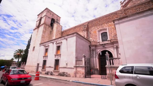vídeos y material grabado en eventos de stock de temple of san jose located in el calvillo one of the magic towns of aguascalientes state in mexico - mp4
