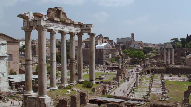 WS Temple of Saturn at Roman Forum / Rome, Italy