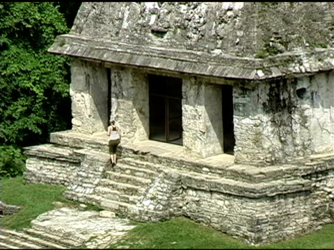 Temple of the Cross Maya Palenque Mexico Ruins