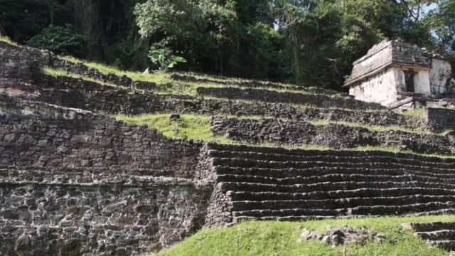 temple of the skull, palenque, mexico - palenque stock-videos und b-roll-filmmaterial