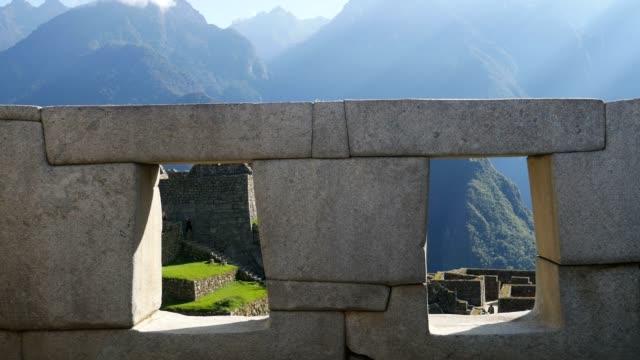 temple of the three windows - stein baumaterial stock-videos und b-roll-filmmaterial