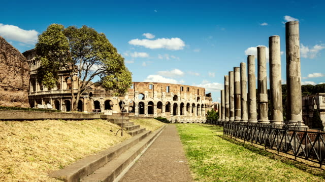 temple of venus and roma by the coliseum - ancient stock videos & royalty-free footage