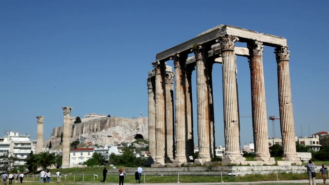 temple of zeus olympios, athens, greece - zeus stock videos and b-roll footage