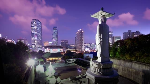 韓国ソウルのテンプル像 - 韓国文化点の映像素材/bロール