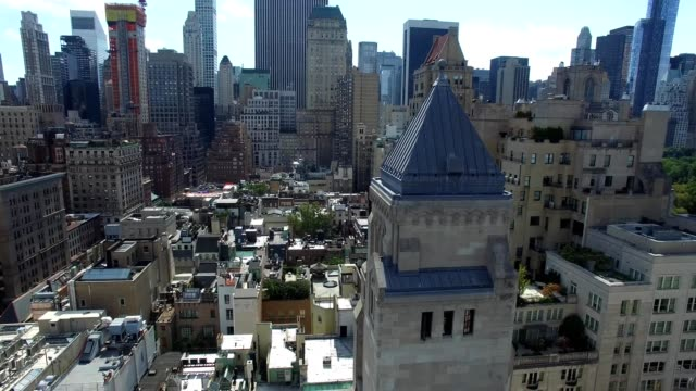 temple synagogue church - midtown nyc - temple building stock videos & royalty-free footage