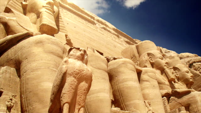 temples of abu simbel egypt - egypt stock videos & royalty-free footage
