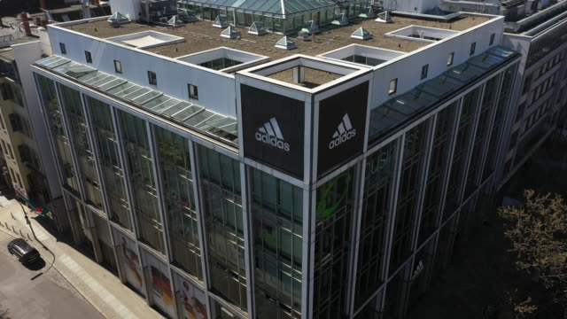 temporarily closed adidas store stands in the tauentzien street in the district charlottenburg during the coronavirus crisis on april 19 in berlin,... - adidas stock videos & royalty-free footage
