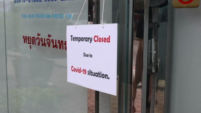 temporary closed - store sign stock videos & royalty-free footage