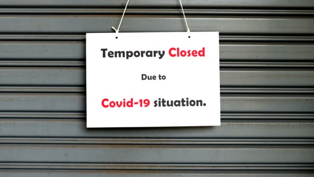 temporary closed - entrance sign stock videos & royalty-free footage