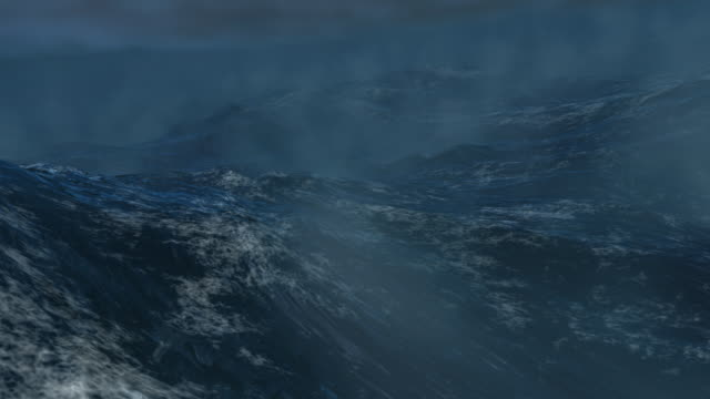 tempête en mer / sea storm - loop file - distant stock videos & royalty-free footage