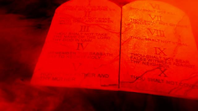 ten commandments - bible stock videos & royalty-free footage