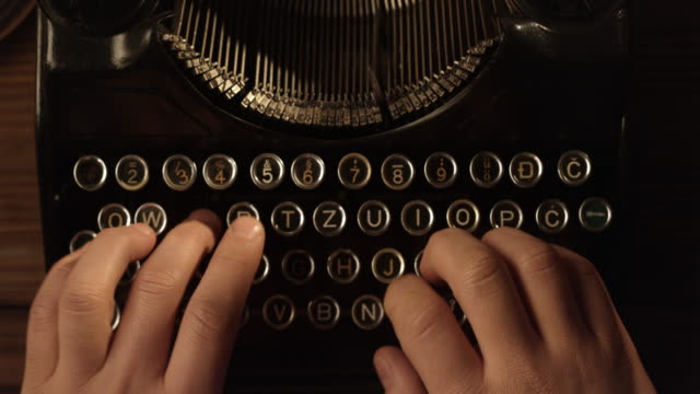 ld ten finger typewriting - author stock videos & royalty-free footage