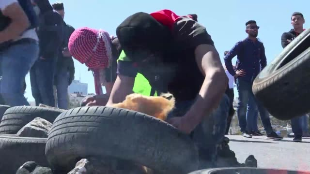 Ten Palestinians were injured Monday in clashes that erupted during a protest against an Israeli army raid last week on a university campus a medical...