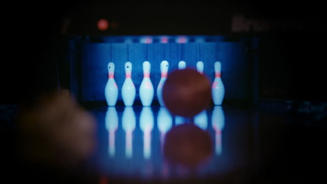 ten pin bowling gutterball - low section stock videos & royalty-free footage