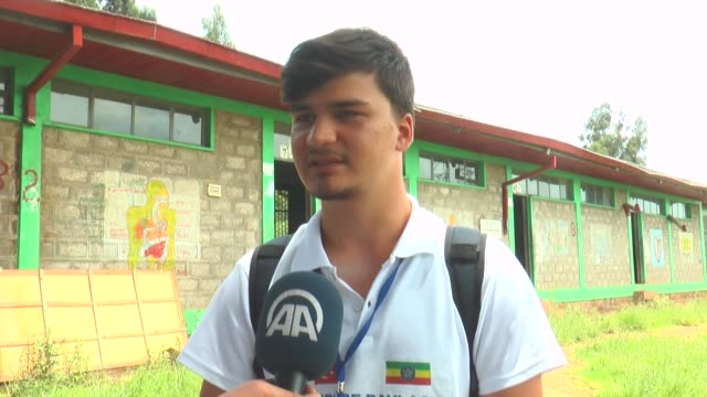 ten university students from turkey arrived in ethiopia on august 21 2017 for a weeklong voluntary work as part of a visit to several african... - level 42 stock videos & royalty-free footage