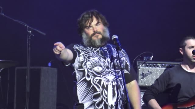 tenacious d performs onstage at jimmy kimmel live in hollywood in celebrity sightings in los angeles, - tenacious d stock videos & royalty-free footage