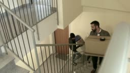 Tenants Friends Young People Students Moving To New Apartment Home