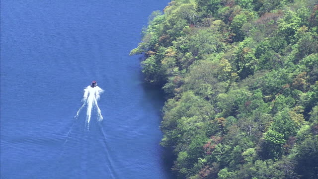 tender green wraps lake towada - honshu stock videos and b-roll footage