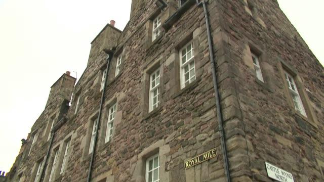tenements at royal mile in edinburgh - brick stock videos & royalty-free footage